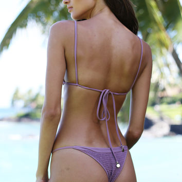 Tori Praver Swimwear Lahaina Bottom in Mauve