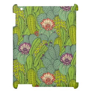 Cactus Flower Pattern iPad Case
