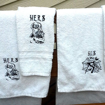 Jack Skellington and Sally His and Hers Towel Set - Nightmare Before Christmas