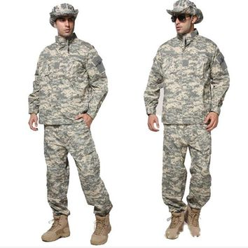 Military CS Tactical Uniform Shirt Pants Camouflage Outdoor Taining Combat US Army Men Women Clothing Suit Hunting Jungle Sets