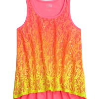 Lace Dip Dye High-Low Tank | Tanks | Tops & Tanks | Shop Justice