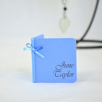 Wedding Place Card - Blue Wedding Place Card - Large Print Wedding Place cards - Mini Place Cards