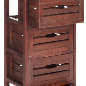 Sarina 5 Drawer Cabinet Cherry
