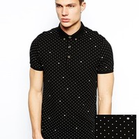 ASOS Polo With Polka Dot And Star Print