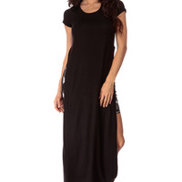 Summer Horizon Black Maxi Dress