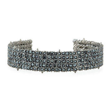Alexis Bittar Crystal Pave Cuff Bracelet
