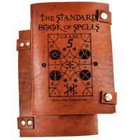Spell book - Harry potter spell book - book of spells - book for spells - leather journal - spell journal - spells notebook