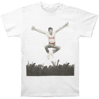 Queen Men's  Freddie Mercury Flash Jump Crowd T-shirt White Rockabilia
