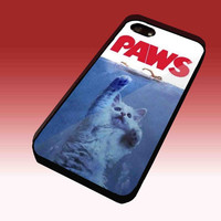 PAWS Movie Parody Funny cat attack Design Hard Plastic Case for iPhone 4/4S, iPhone 5, Samsung Galaxy S3 i9300, Samsung Galaxy S4 i9500