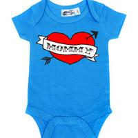 Mommy Heart Tattoo Turquoise One Piece