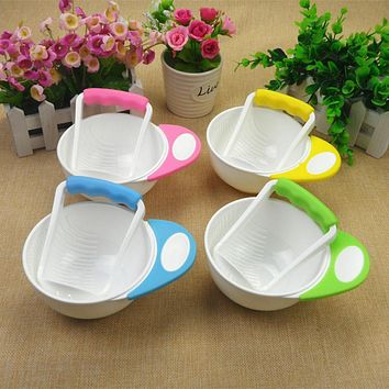 Special Counter Bowl Rod Set Manual Grinding Baby Cook Feeding Cooking Tools Kids Fruit Food Grinding Container Dishes Bowls