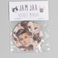 jam jar: pocket mirror - justin bieber