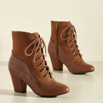 From the Same Cloth Boot in Caramel | Mod Retro Vintage Boots | ModCloth.com