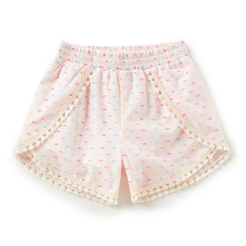 Egg by Susan Lazar Little Girls 2T-4T Valerie Pom Pom Trim Short | Dillards