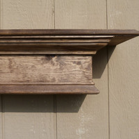 "Natural Walnut Wood, 48""L Mantle, Floating Shelf, Wall Hanging, Fireplace Mantel, Wood Shelf, Wood Fireplace Mantel"