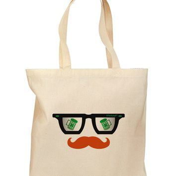 St. Patrick's Day Beer Glasses Design Grocery Tote Bag by TooLoud