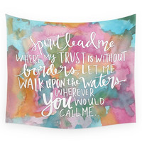 Society6 Spirit Lead Me Inspirational Quote With Wall Tapestry