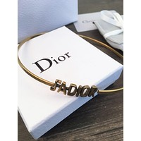 Dior Fashion Women  Vintage Letter Necklace Jewelry Accessories