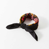 Floral Silky Mini Square Scarf | Urban Outfitters