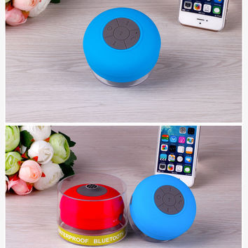 1 PCS Portable Subwoofer Waterproof Shower Wireless Bluetooth Speaker Car Handsfree Receive Call Music Suction