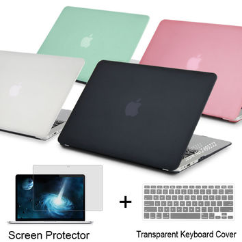 NEW Laptop Case Cover For Apple macbook Air Pro Retina 11 12 13.3 15 For Mac book Pro 13 15 inch with Touch Bar + keyboard cover