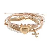 Cross Mix Bracelet 4-Pack - Aeropostale