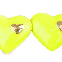 Love in Love Yellow Stud Earrings