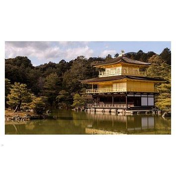 the GOLDEN PAVILION JAPAN poster 24X36 traditional architectural GEM