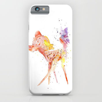 Bambi Meets Butterfly iPhone & iPod Case by MIKART