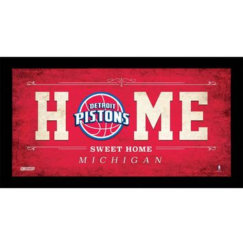 Detroit Pistons 10x20 Home Sweet Home Sign