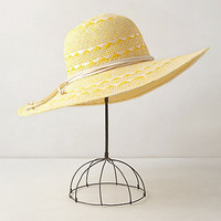Estoril Sun Hat by Anthropologie Dark Yellow One Size Hats