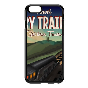 Travel by train Black Hard Plastic Case for iPhone 6 by Nick Greenaway