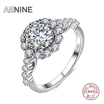 Fashion Jewelry 925 Sterling Silver Ring For Women Wedding Rings Luxury Zircon Sunflower Party Birthday Gift 60100529486A