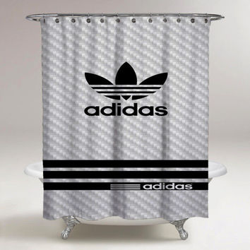 Best Adidas Carbon Pattern Custom Shower Curtain High Quality