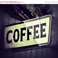 Vintage Coffee Sign Retro Inspired Breakfast by BrandonAddisArt
