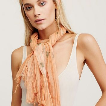 Free People Star Struck Gauze Scarf