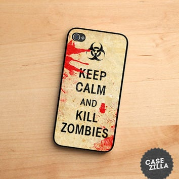 iPhone 5 Case Keep Calm and Kill Zombies iPhone 5S Case, iPhone 4/4S Case, iPhone 5C Case