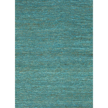 Jaipur Rugs Naturals Solid Pattern Blue Jute Area Rug CL02 (Rectangle)