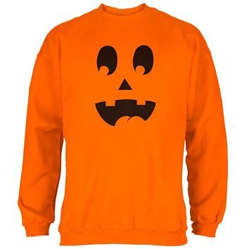 Halloween Jack-O-Lantern Costume Surprised Face Mens Sweatshirt