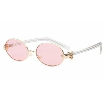 Newest Ocean Small Oval 2017 Sunglasses Women Gold Metal Clear Blue Sunglasses For Men Vintage Shade uv400