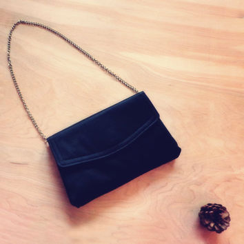 Vintage Silky Black Date Night Purse / Clutch