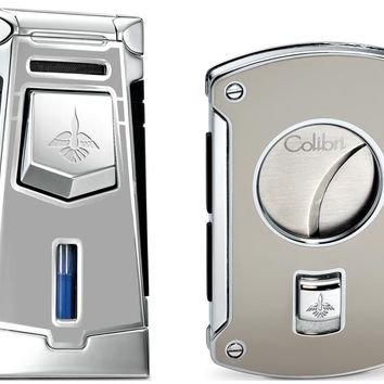 Colibri Empire Thunder Lighter and Slyce Thunder Cigar Cutter Gift Set