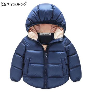 Boys Winter Coats Warm Down Jackets For Girls Children Clothing Boy Coats Hooded Girls Outerwear Kids Clothes 1 2 3 4 5 6 Years