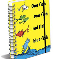 Dr. Seuss One Fish Two Fish Red Fish Blue Fish Spiral Notebook