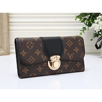 LV Fashion Sell Multicolor Full Print Handbag Single Shoulder Bag Black