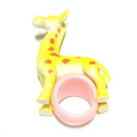 Giraffe Ring in Yellow x Pink