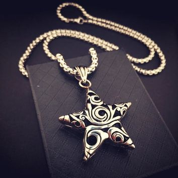 Stylish Gift New Arrival Shiny Jewelry Hip-hop Club Necklace [8439468867]