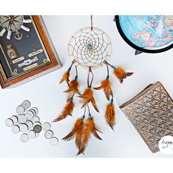 Dream catcher, Dreamcatcher, House decor,  Bedroom decor, Mobile, Feathers, Beads, Bohemian, Boho, Wall hanging, Gift for her, Unique, Wall