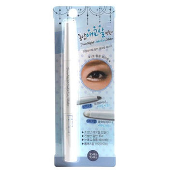 Holika Holika Jewel Light Under Eye Maker - Plump White | Holika Holika 双头卧蚕笔 哑光白色