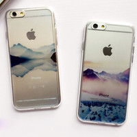 Snow Scene Case Cover for iPhone 6 6s Plus Gift 230